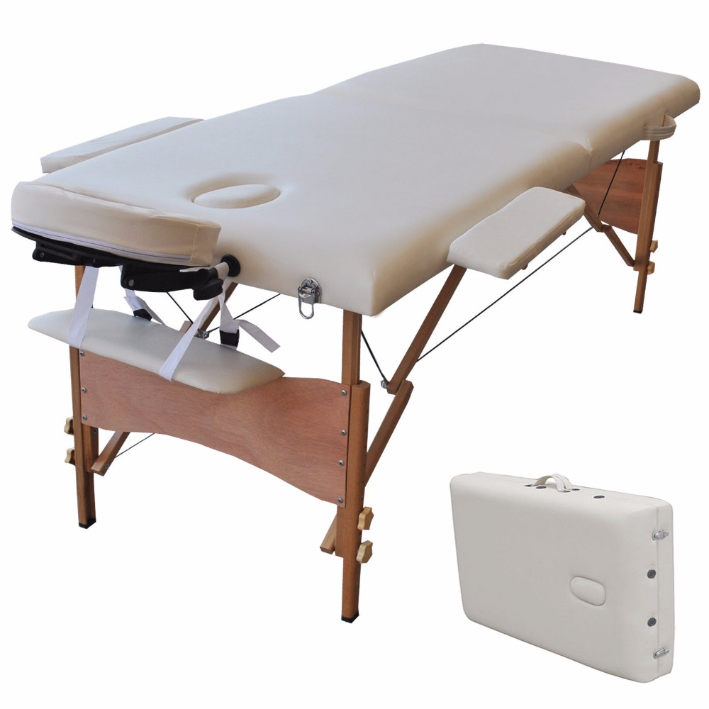 "New 84""L Portable Massage Table Facial SPA Bed Tattoo w/Free Carry Case White Free Shipping HB78775WH(China (Mainland))"