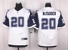 Men's free shiping A+++ quality Dallas Cowboys #20 Darren McFadden Elite White Rush(China (Mainland))