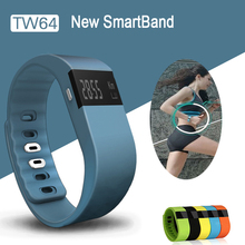 Smart band Fitness Tracker Bluetooth 4.0 Wristband Smart Pedometer Bracelet For iOS Samsung Android TW64 PK Fitbit Mi band