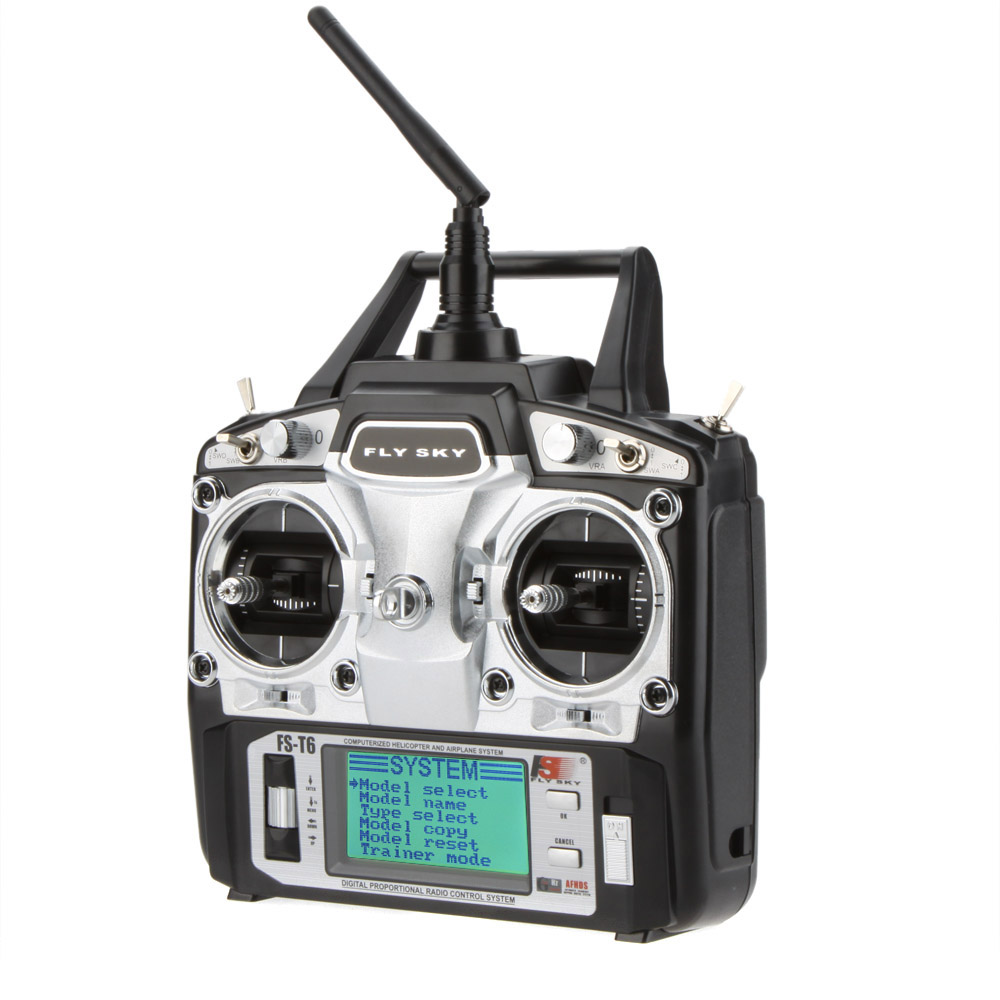 F14912 /3 Flysky FS-T6 6CH 2.4G LCD Transmitter R6B Receiver Digital Radio System for RC Helicopter Quadcopter Glider Airplane