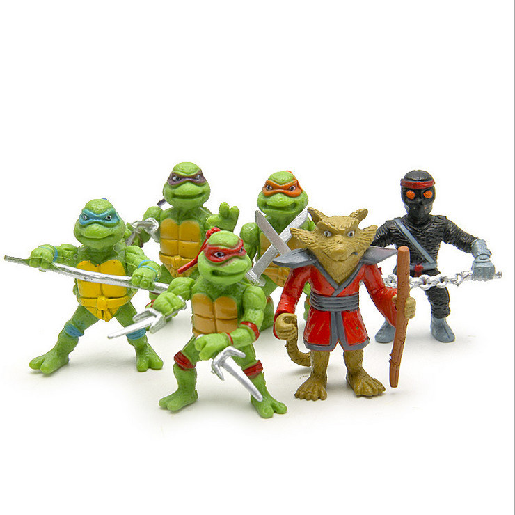 Hot style six teenage mutant ninja turtles do people key furnishing articles Joker micro landscape gardening, fleshy figures(China (Mainland))