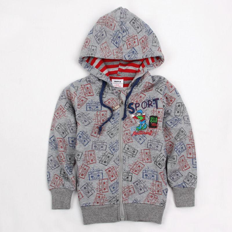 FREESHIPPING A3368# 5 pcs/lot 2013 new fashion NOVA kids clothes autumn-winter baby boys hoodies hood