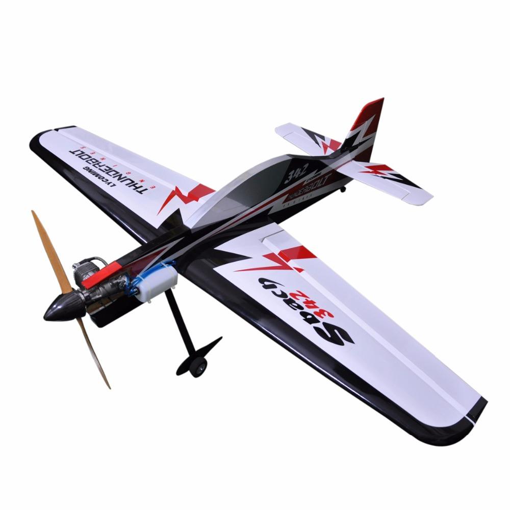 "Sbach 342 65"" DLE 20cc Gas Profile Plane 6 Channels ARF RC Balsa Wood Model Airplane(China (Mainland))"