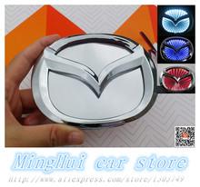 Mazda M2 M3 Car LASER/REFLECTIVE 3D MAZDA BRAND LED Badge light auto logo personality light  Auto accessories Free shipping(China (Mainland))