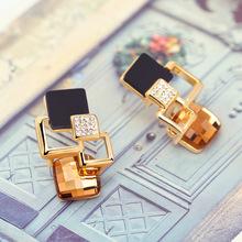 designer earrings for women luxury Ear rings Stud for Women Austria Crystal Gold Plated Ear Rings for Party