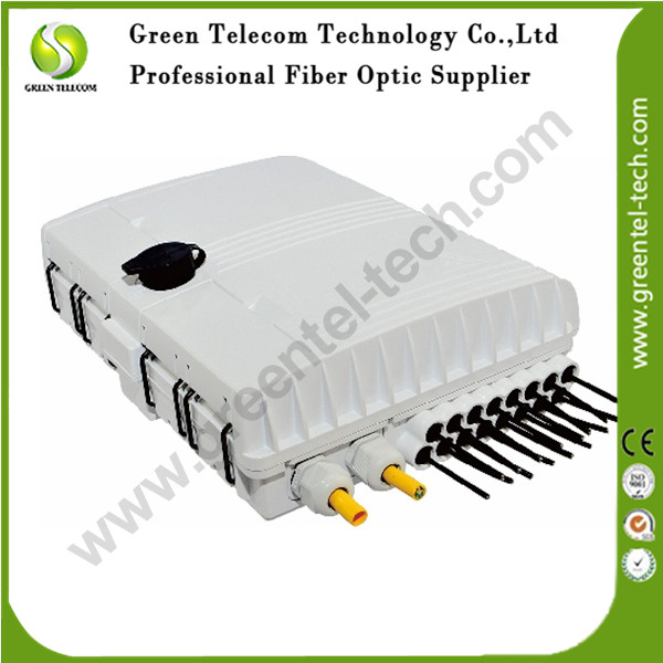 Greentel FAT-12 cores Fiber Access Terminal, Fiber Terminal Box, FTTx Fiber Distrubution Box, Fiber Optic FTTH Box(China (Mainland))
