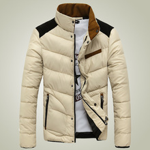 Men warm coats popular jacket men solid color stand collar newest winter jackets teenagers simple solf parkas cotton clothes