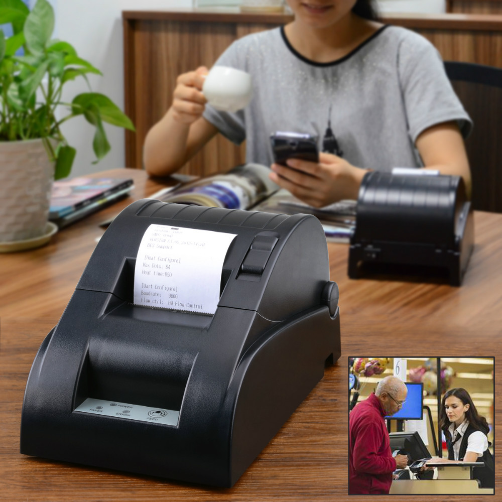 YOKO 58DB-4 Portable Bluetooth Wireless Receipt Thermal Desktop Printer for Android and IOS (58mm Paper Width)(EU Plug)(China (Mainland))