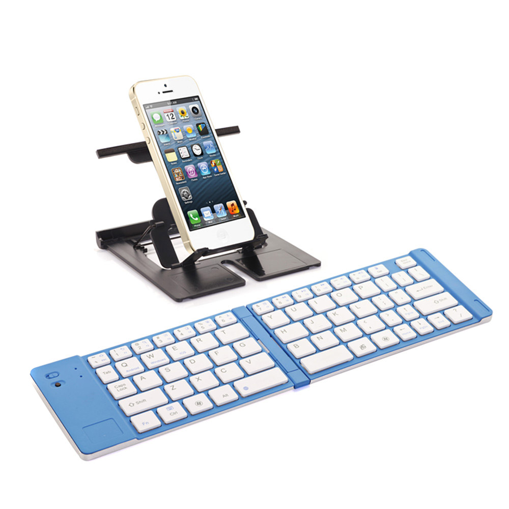 Black/Blue/Red Foldable Wireless Bluetooth 3.0 Keyboard for iPhone iPad iPod Google Samsung iOS Android Smartphone Tablet Laptop(China (Mainland))