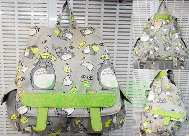 Totoro Schoolbag Backpack Fashion Travel backpack Fashion Girl Student Big Bag SIZE 43*38*17CM(China (Mainland))
