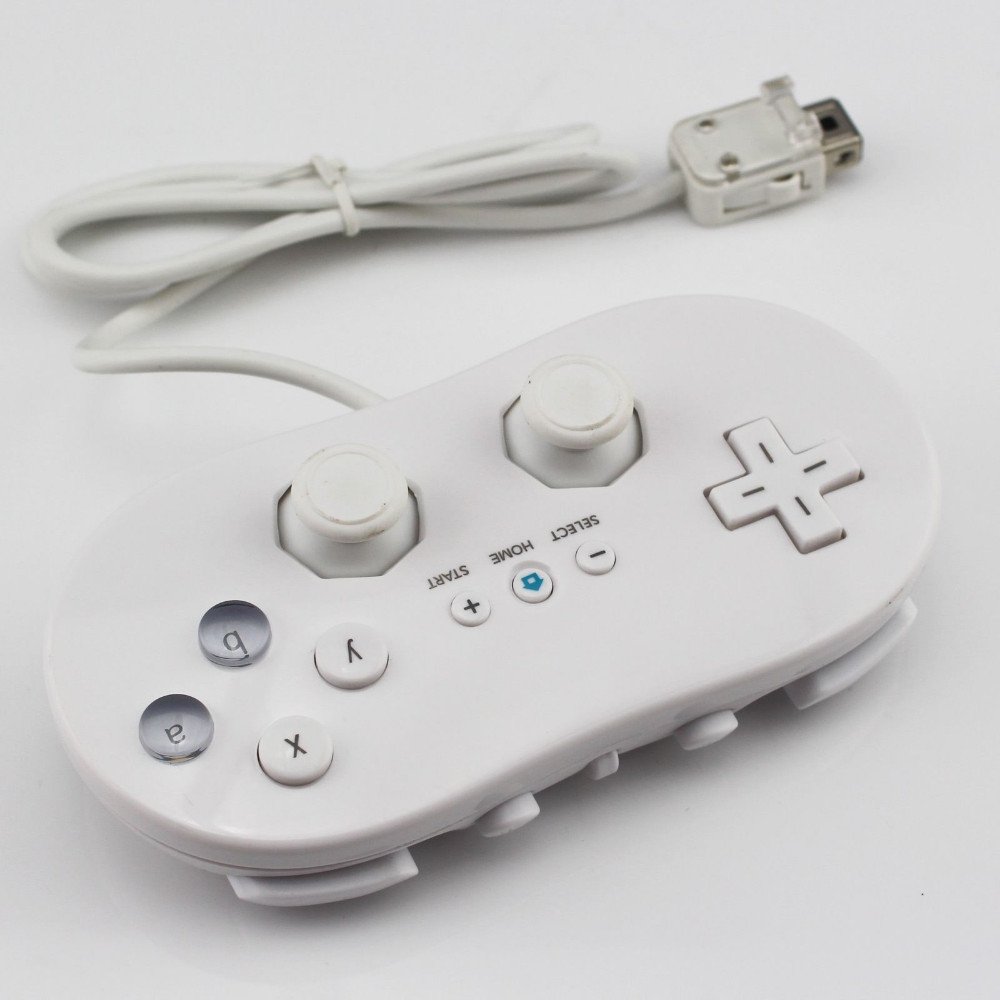 Classic White/Black I Games Joystick Silicone Soft Gamepad Snes Controller For Nintendo Wii Video Game Console Free Shipping(China (Mainland))