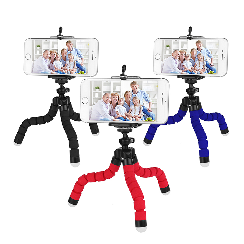 Mini Universal Flexible Octopus Digital Camera Tripod Holder for Gopro Mount Bracket Stand Display Support for Cell Phone Holder(China (Mainland))
