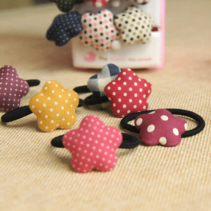 New 1 PCS Polka Dot Elastic Hair Bands Headwear Ring Rope Hair Styling Accessory(China (Mainland))