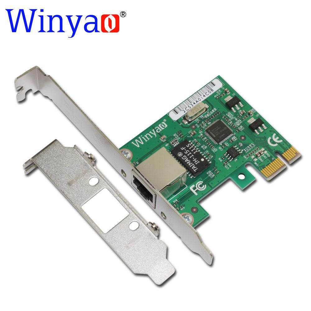 Winyao E574T PCI-E X1 10/100/1000M RJ45 Gigabit Ethernet Network Card Server Adapter Nic For Intel 82574 EXPI9301CT/9301CT Nic(China (Mainland))
