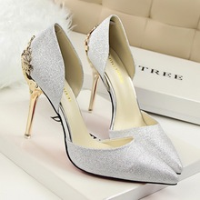2016 New sexy women pumps Red Bottom High Heels shoes Summer Stiletto Sexy Metal Heel Shoes