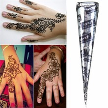 1Pcs Black Natural Herbal Henna Cones Tube Natural Indian Temporary Tattoos Kit Body Art Painting Tool(China (Mainland))