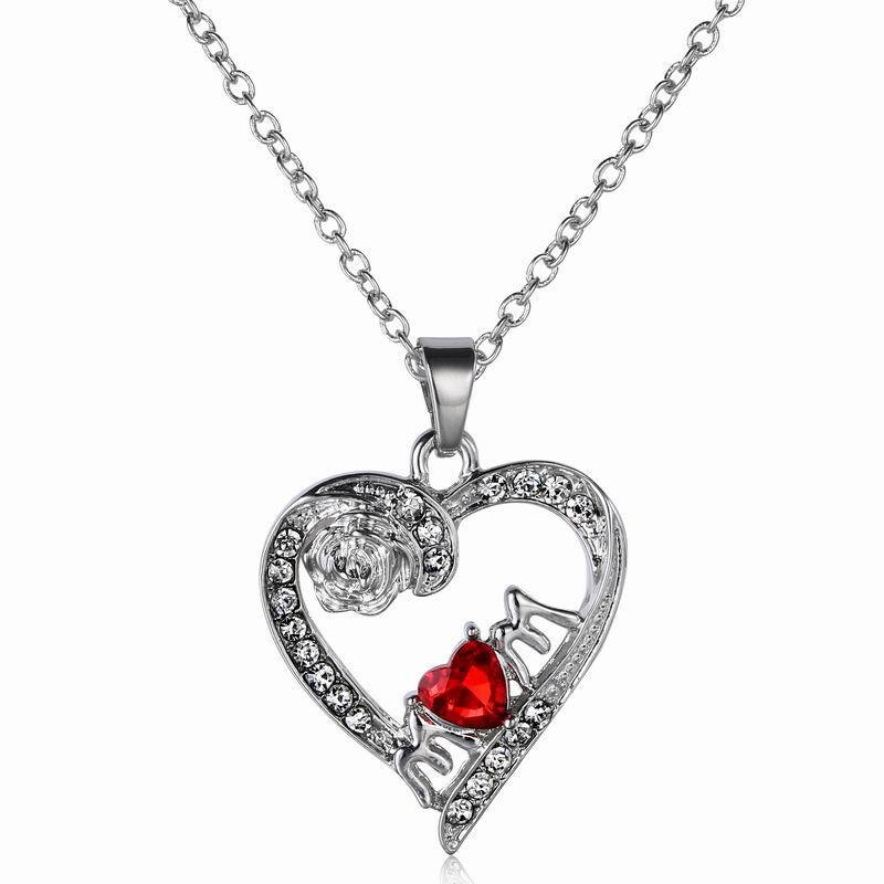 2015 39 39 i love you mom fashion love jewelry necklace ruby