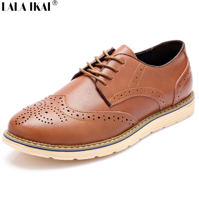XMD055-5 Plus Size 10 11 12 Men Shoes High Quality Fashion Men Oxford Shoes Brogues Shoes British Genuine Leather Shoes(China (Mainland))