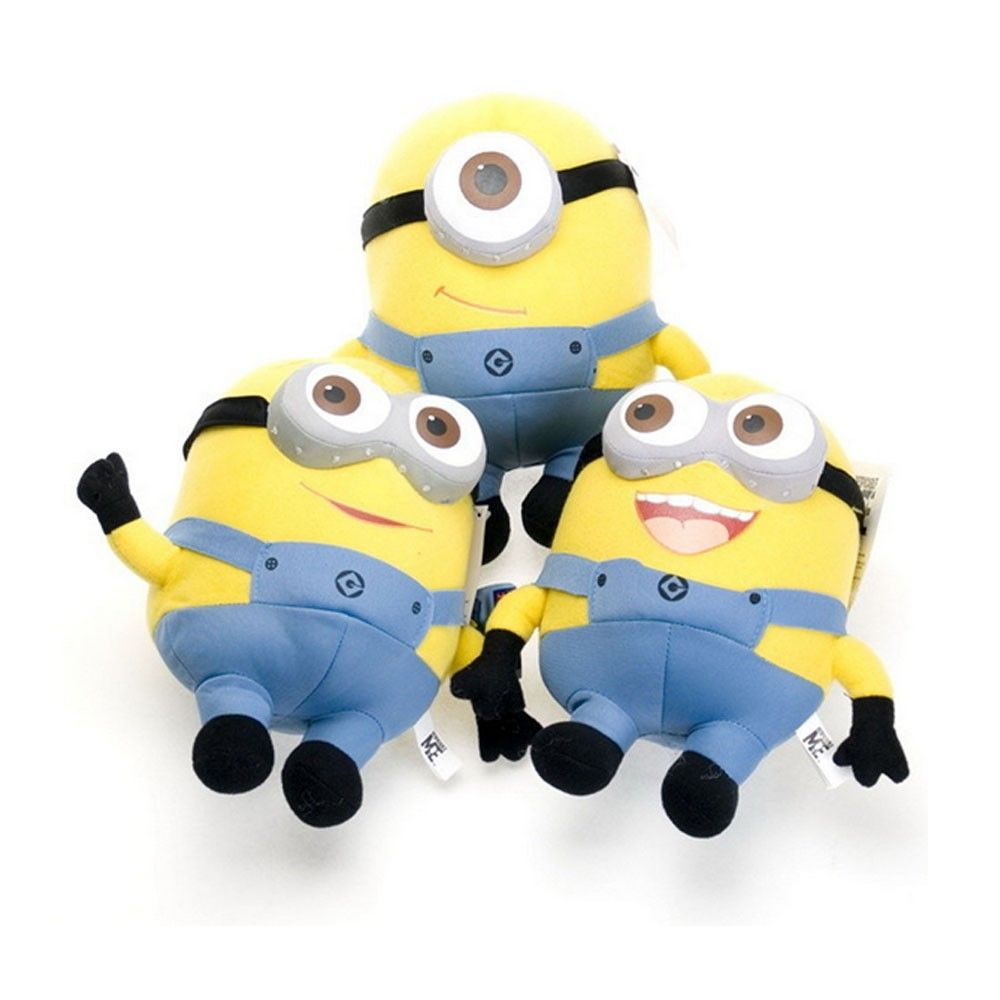 Cartoon Despicable Minions 7 Inch / 9 Deluxe Plush Doll Stuffed Toy Jorge Dave Stewart Great Gift Kids - Toyben Mall store