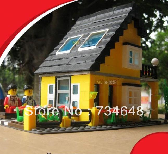 WANGE High Quality Plastic Blocks Villa Series 458 Pcs LGO Compatible 31052(China (Mainland))