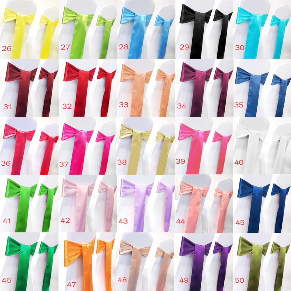 Free Shipping 10 pieces/set Satin Chair Cover Sash Bow Tie Ribbon Decoration Wedding Party Supplies #XQA10(China (Mainland))