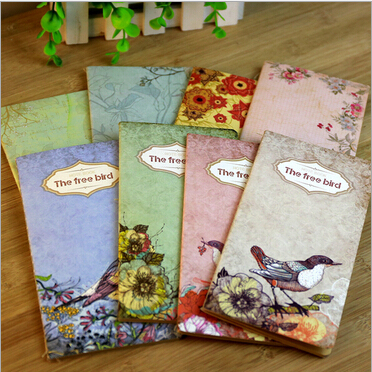 4pcs/lot New Retro Romatic Flower Story series Blank Kraft paper notebook/Vintage DIY diary/journal pocket notepad/No.0266<br><br>Aliexpress