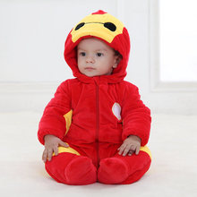 Baby Halloween Winter Clothes Flannel Baby Boy Clothes Cartoon Baymax iron Man Girl Jumpsuit Baby Thicken Rompers Baby Clothing
