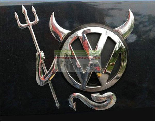 3D Devil Car Sticker Emblems For Toyota Honda Skoda Nissan Buick Mazda Volkswagen Lada Kia Golf