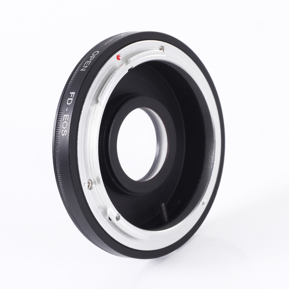 Lens Adapter Ring for Canon FD FL Lens to EF EF 70D 7D 5DIII 750D 700D 1200D Mount Adapter with Glass(Hong Kong)
