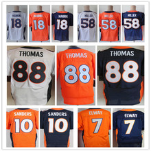 Cheap Sale Men's Elite 18 Peyton Manning Jersey 58Von Miller 88 Demaryius Thomas Jersey,Size:M-3XL,Best quality,Accept Mix Order(China (Mainland))