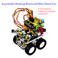 Keyestudio Desktop Wireless Bluetooth Mini DIY Smart Car Robot car DIY Kit for Arduino Kit