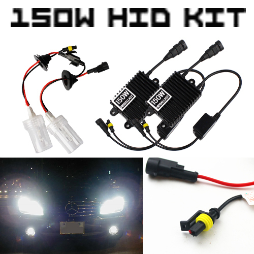 150W AC High Power 9006 Xenon Light HID Replacement Headlight Fog Driving Daytime Light KIT Conversion 4300k 6000k 8000k White