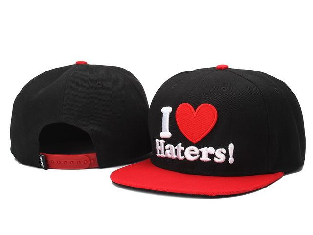 2015 Hot fashion i love haters Snapback Caps and hats for men- women snap backs baseball fashion hip hop street sport hat cap(China (Mainland))