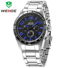 2014 nuevo WEIDE marca moda cuarzo de japón del reloj para hombre reloj de pulsera pantalla analógica militar de acero lleno de relojes deportivos de buceo