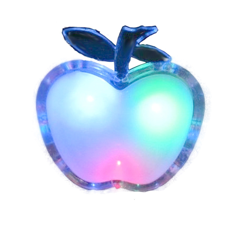 Energy-saving LED Apple Shaped Colorful Nightlight Wall Lamp Home Decoration(China (Mainland))