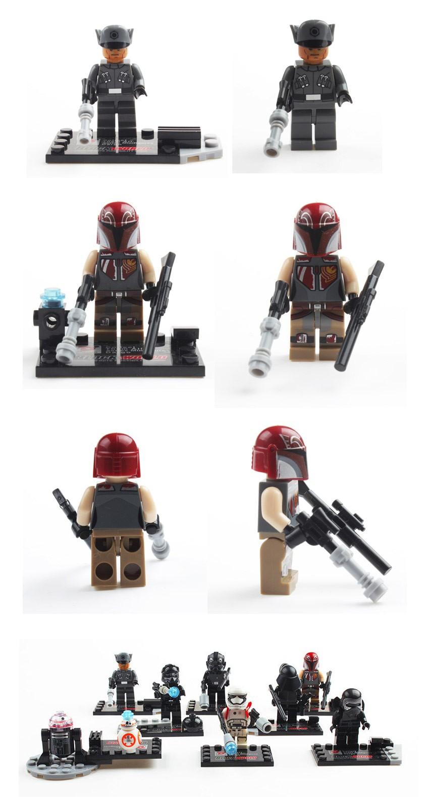 1Pcs Star Wars 7 Minifigures The Power Awakens Kylo Ren TIE Pilot Constructing Block Fashions Figures Toys For Kids