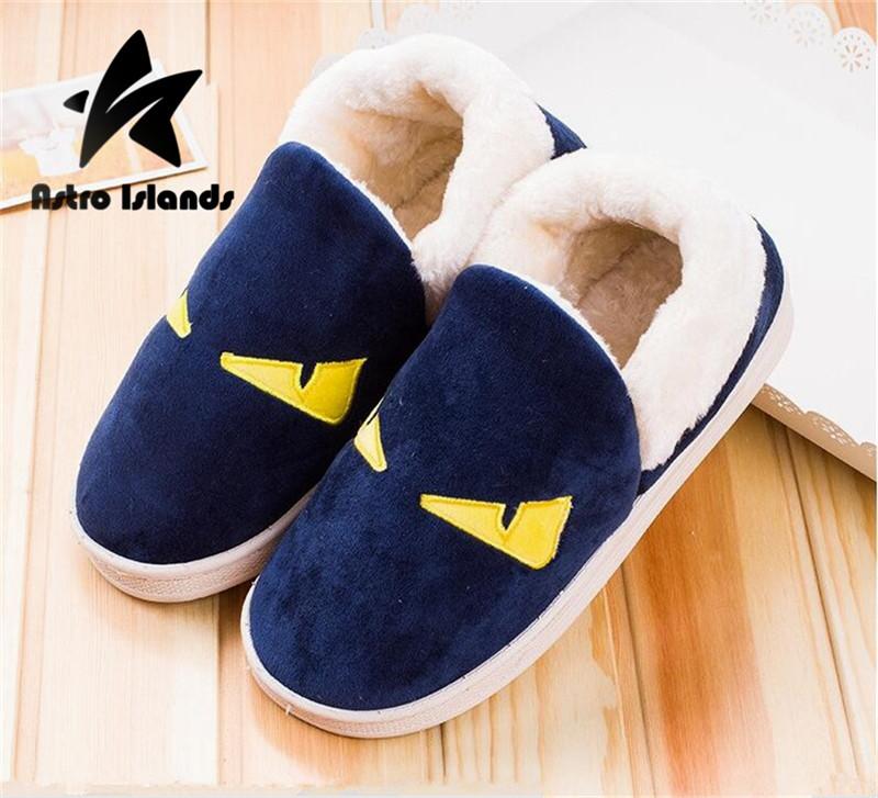 Hot Sale Women Men Unisex Winter Slippers Pantufa Chinelo Home Slippers Warm Floor Slippers/Shoes Woman Slipper Monster Eye F303(China (Mainland))