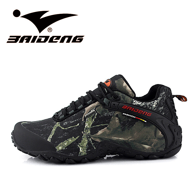 Waterproof Hiking Shoes Men Sneakers Leather Outdoor Shoes Mens Sport Trekking Walking Shoes Sapatos Tenis zapatos hombre BD8068
