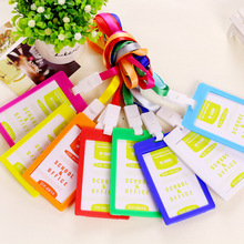 Bank Credit Card Holders women men PP Neck Strap Card Bus ID holders 9 candy colors Identity badge with lanyard wholesale(China (Mainland))