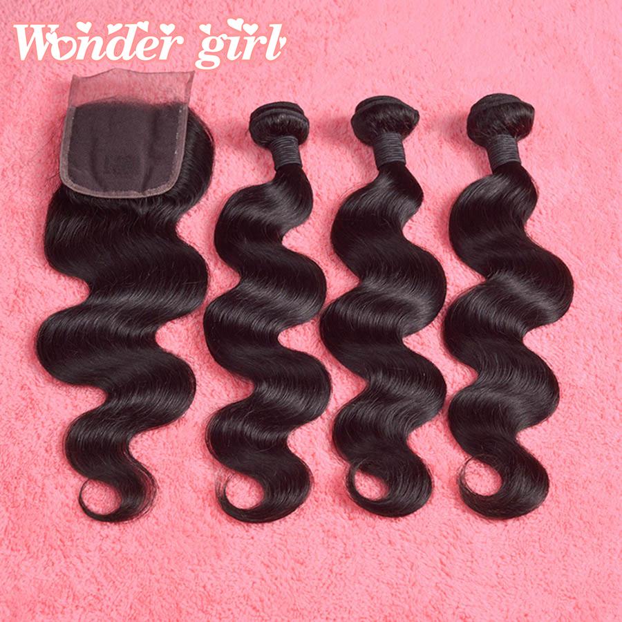 Brazilian Virgin Hair With Closure 7A Grade Brazilian Body Wave 3 Bundles With Lace Closure Cheap Human Hair Closure No Shedding<br><br>Aliexpress