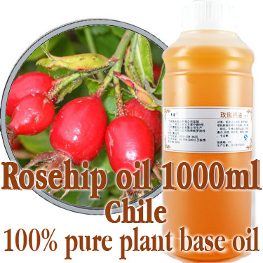 Free shopping2100% pure plant base oil Essential oils skin care Chile Rose Hip Oil 1000ml Promote blood circulation(China (Mainland))