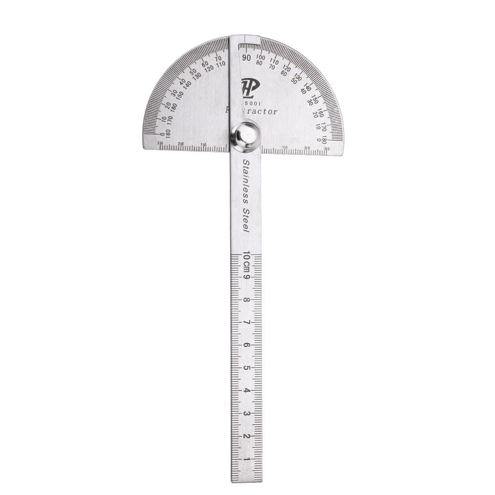 Multi-fonction angle de 180 ° modèle rapporteur règle Instruments de Mesure Outil