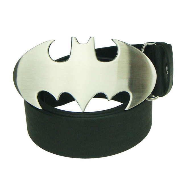 Film Hero Silver Batman Cowboy Men Motorcycle Man Enamel Leather Belt Buckle