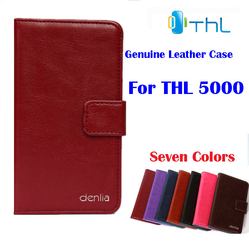 THL 5000 Case,Genuine Flip Leather Phone Case Cover Real skin Card Holder . - Guangzhou Venice store