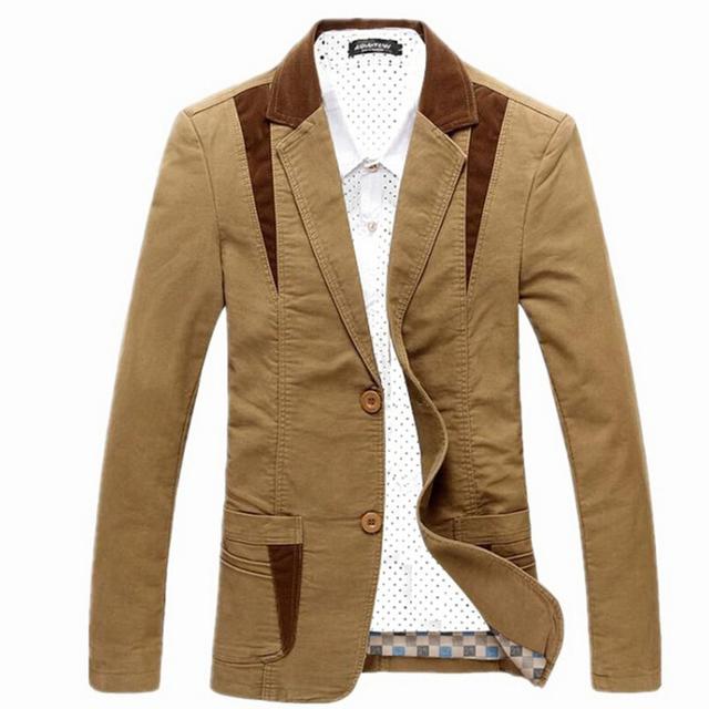 2015 новые приходят осень мужская свободного покроя пиджак костюм мужчины пиджак ...