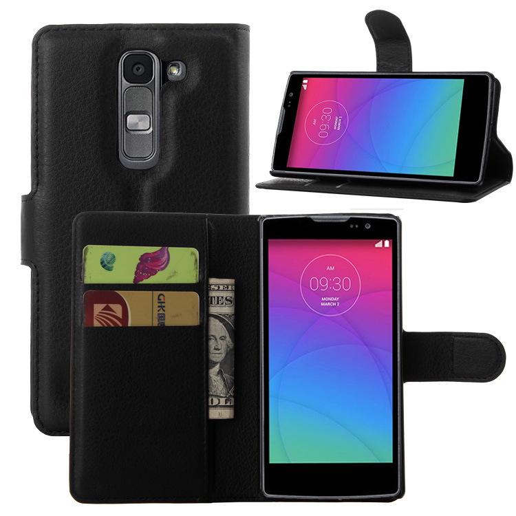 Гаджет  2015 Luxury PU Leather Flip Case Cover For LG Spirit 4G LTE H440N H420 Cell Phone Shell Case Back Cover With Card Holder & Gift None Телефоны и Телекоммуникации