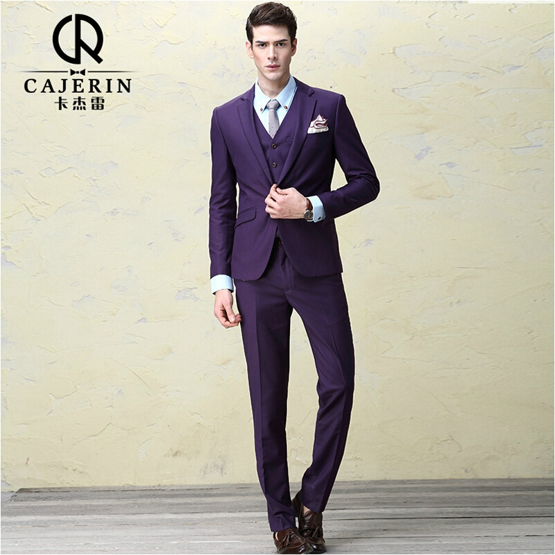cajerin mens suits wedding groom dress terno masculino slim fit purple suits for men herren. Black Bedroom Furniture Sets. Home Design Ideas