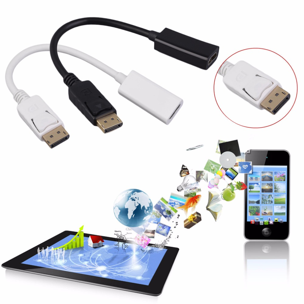 New Display Port DP To HDMI Adapter HD 1080P M/F Display Port Cable Connector in stock!(China (Mainland))