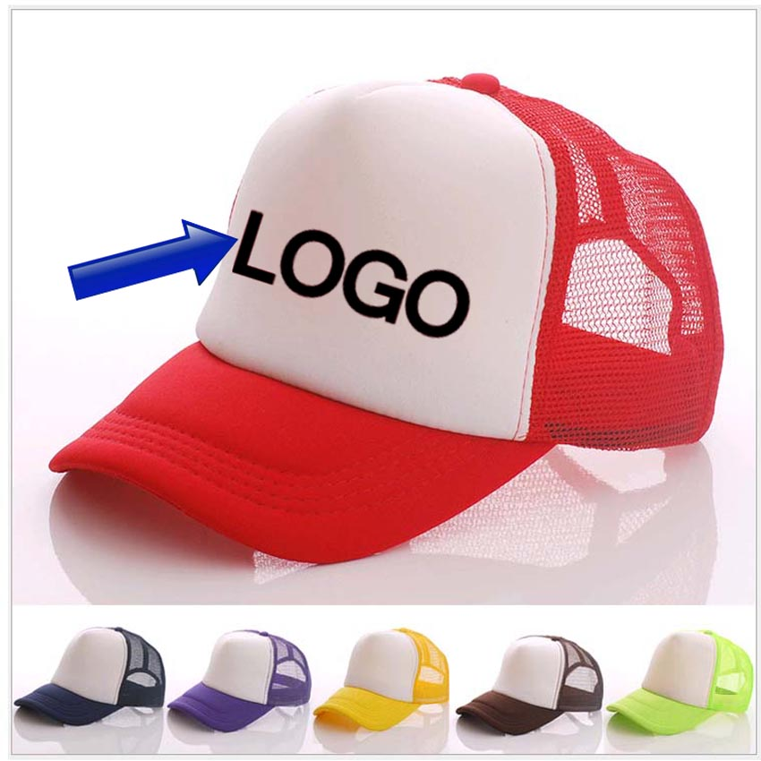 Free DLY LOGO Aduit Caps Patchwork Candy Color Summer Baseball hat Advertising Logo Printing Hats Customize(China (Mainland))