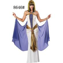 Cleopatra for Cosplay Egyptian Queen Outfit Magnificent Worshipful Halloween Costumes Party Dress High Quality 8646